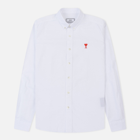 Мужская рубашка AMI AMI De Coeur Button-Down White