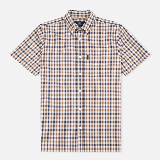 Aquascutum Emsworth SS Club Check Men's Shirt Vicuna