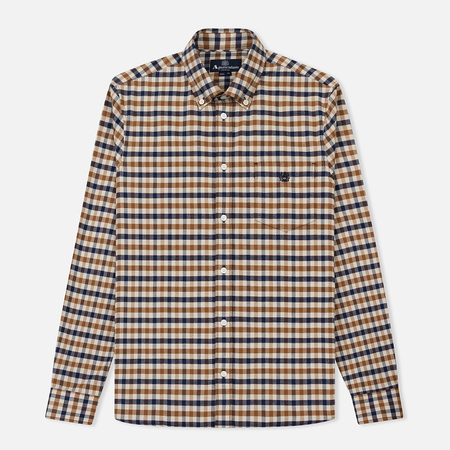 Мужская рубашка Aquascutum Goodman Small Flannel Club Check LS Vicuna