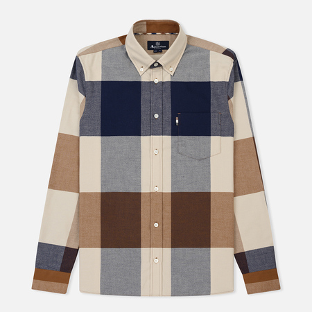 Мужская рубашка Aquascutum Gunn Giant Club Check Flannel Vicuna