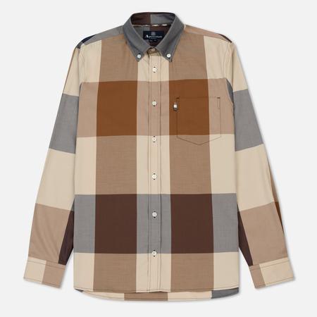 Мужская рубашка Aquascutum Henlake Giant Club Check LS BD Vicuna