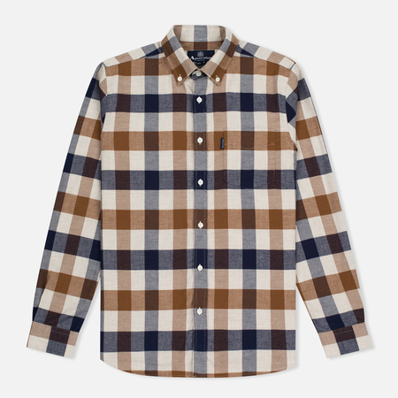 Aquascutum Marcus Large Scale LS Men's Shirt Vicuna