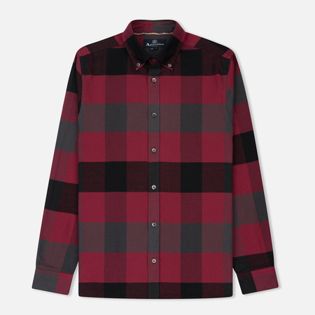 Мужская рубашка Aquascutum Rigby Flannel Mega Check Red