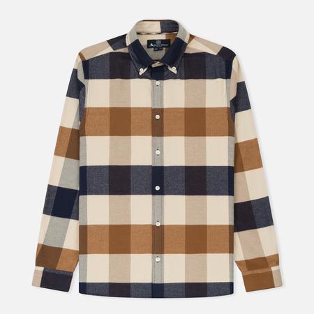 Мужская рубашка Aquascutum Rigby Flannel Mega Check Vicuna