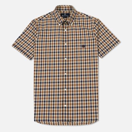 Мужская рубашка Aquascutum York Club Check SS Vicuna