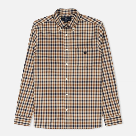 Мужская рубашка Aquascutum York Club Check LS Vicuna