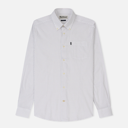 Мужская рубашка Barbour All Over Printed Slim Fit White