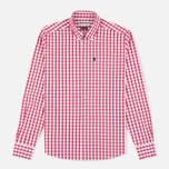 Мужская рубашка Barbour Auton Check Raspberry фото- 0