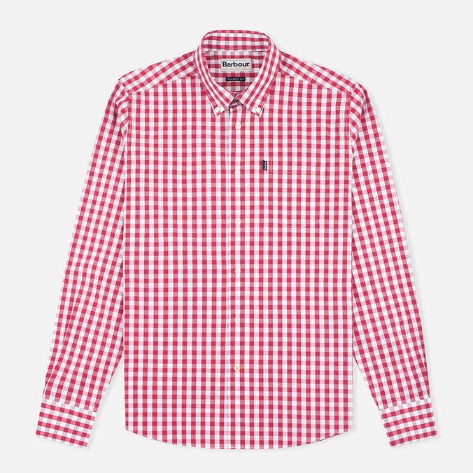 Мужская рубашка Barbour Auton Check Raspberry