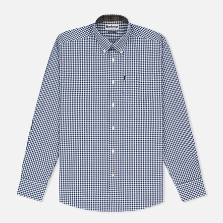 Barbour Country Gingham Men's Shirt Navy