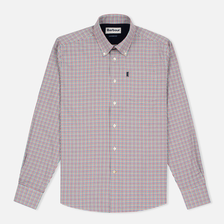 Barbour Elwood Men's Shirt Crimson