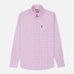 Мужская рубашка Barbour Gingham Pink фото- 0
