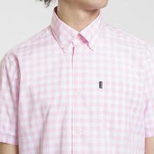 Мужская рубашка Barbour Gingham SS Pink фото- 2