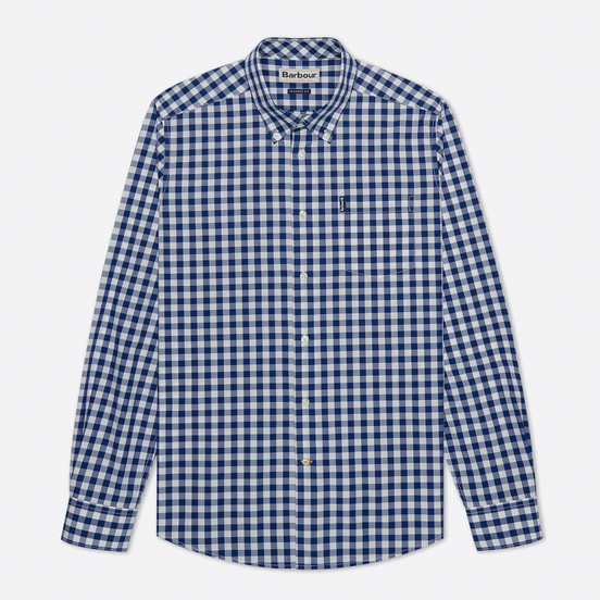 Мужская рубашка Barbour Gingham Tailored Fit Inky Blue