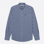Мужская рубашка Barbour Gingham Tailored Fit Inky Blue фото - 0