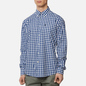 Мужская рубашка Barbour Gingham Tailored Fit Inky Blue фото - 2
