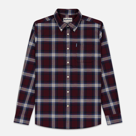 Мужская рубашка Barbour Highland Check 21 Merlot