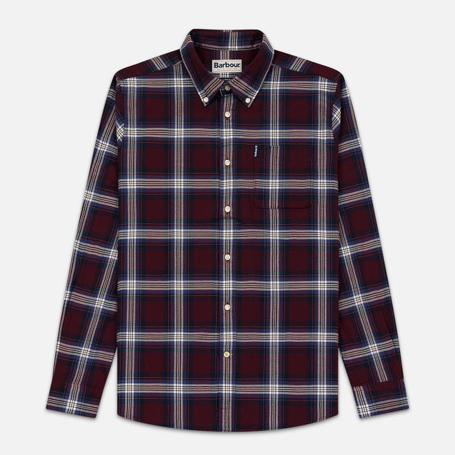 Мужская рубашка Barbour Highland Check 21 Merlot