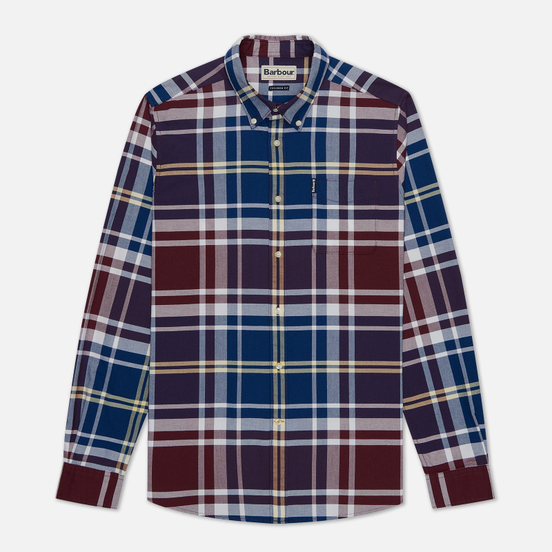 Мужская рубашка Barbour Highland Check 23 Merlot