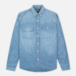 Мужская рубашка Barbour International Austin Slim Fit Stone Wash фото- 0
