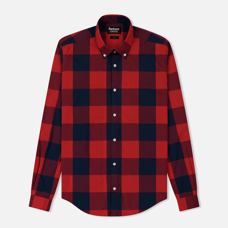 Мужская рубашка Barbour International Bold Gingham Pillar Box Red