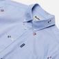 Мужская рубашка Barbour Jacquard Tailored Fit Sky Blue фото - 1