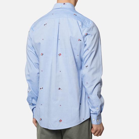 Мужская рубашка Barbour Jacquard Tailored Fit Sky Blue