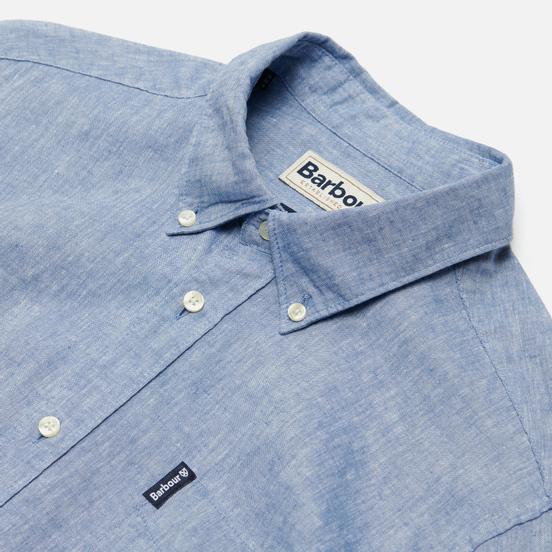 Мужская рубашка Barbour Linen Mix Tailored Fit Blue