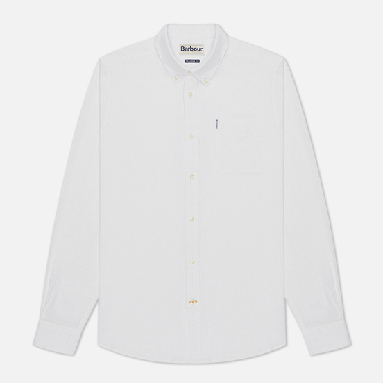 Мужская рубашка Barbour Linen Mix Tailored Fit White