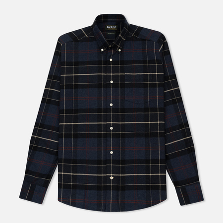 Мужская рубашка Barbour Lustleigh Navy Marl Tartan