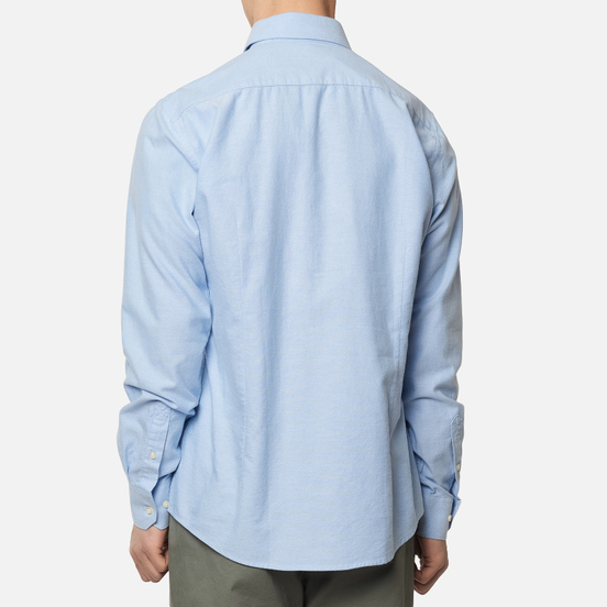Мужская рубашка Barbour Oxford 8 Tailored Fit Blue
