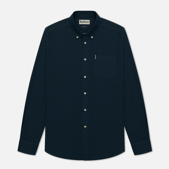 Мужская рубашка Barbour Oxford 8 Tailored Fit Navy