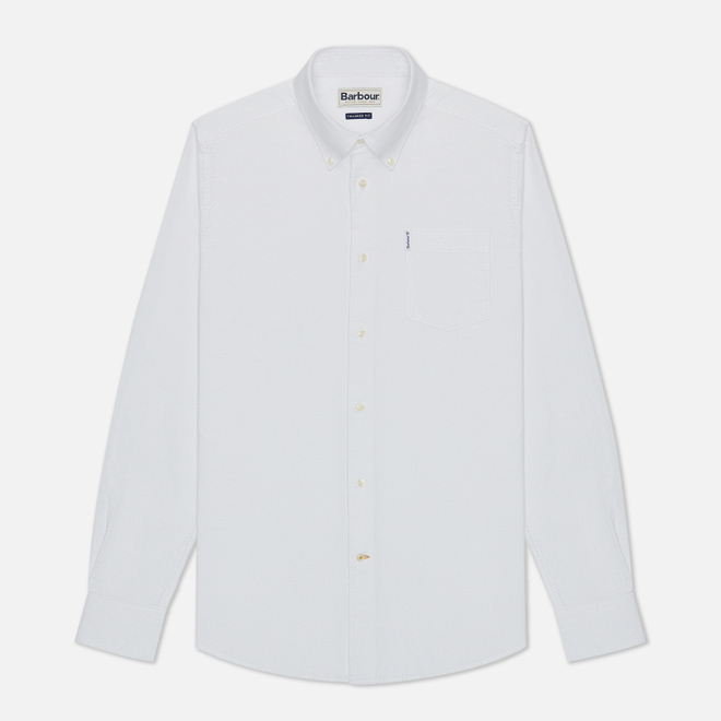 Мужская рубашка Barbour Oxford 8 Tailored Fit White