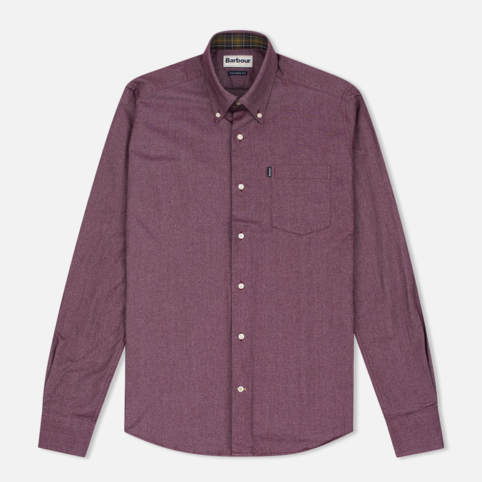 Barbour Oxford Men's Shirt Ruby