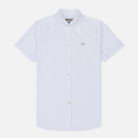 Мужская рубашка Barbour Oxford S/S Tailored White