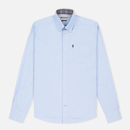 Barbour Oxford Men's Shirt Sky Blue
