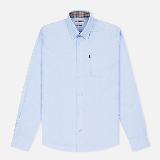 Мужская рубашка Barbour Oxford Sky Blue