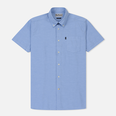 Мужская рубашка Barbour Oxford SS Tailored Blue