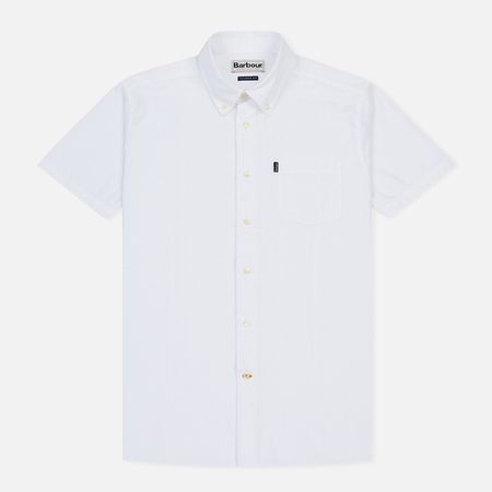 Мужская рубашка Barbour Oxford SS Tailored White
