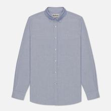 Мужская рубашка Barbour Oxford Tailored Fit Indigo фото- 0