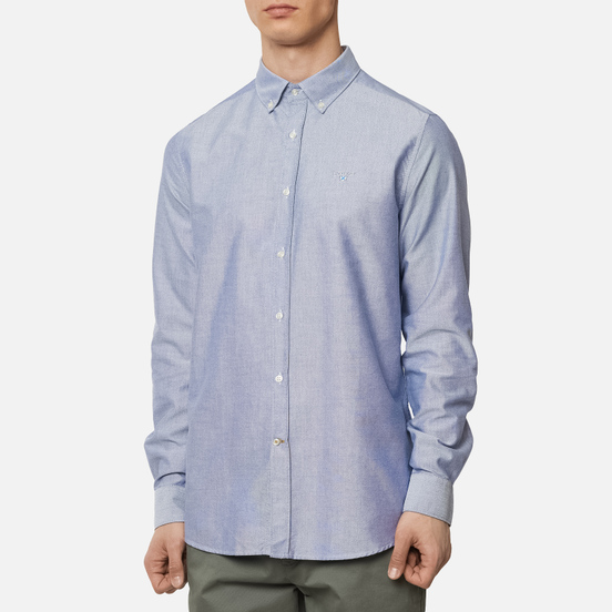 Мужская рубашка Barbour Oxford Tailored Fit Indigo