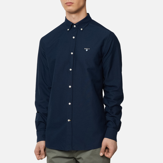 Мужская рубашка Barbour Oxford Tailored Fit Navy