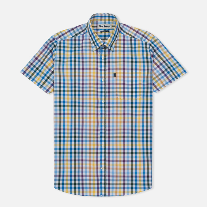 Мужская рубашка Barbour Russel SS Purple Check