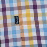 Мужская рубашка Barbour Russel SS Purple Check фото- 2