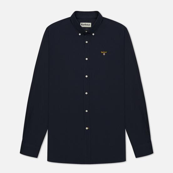 Мужская рубашка Barbour Saltire Stretch Poplin Navy