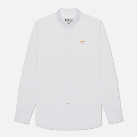 Мужская рубашка Barbour Saltire Stretch Poplin White
