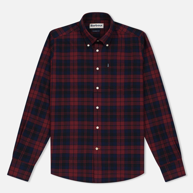 Barbour Seth Men's Shirt Rich Red