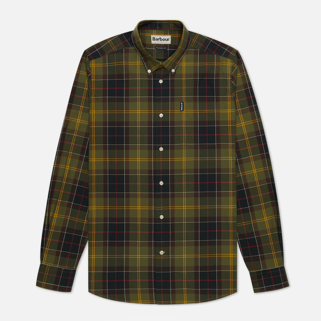 Мужская рубашка Barbour Tartan 7 Tailored Fit Classic Green