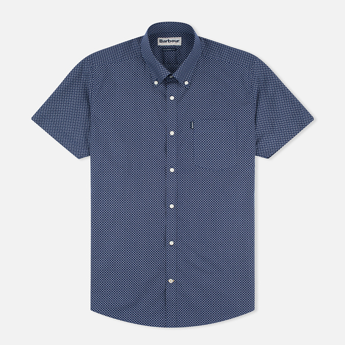 Barbour Theo SS Men's Shirt Navy