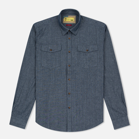 Barbour x Steve McQueen Drift Men's Shirt Indigo
